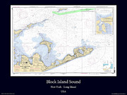 Nautical Chart Photos - Block Island Sound by Adelaide Images