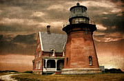 East Coast Digital Art Posters - Block Island Southeast Light Poster by Lourry Legarde