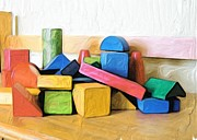 Toy Digital Art - Blocks for my Room by Carla G Art Nitkey