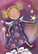 Crafts For Kids Prints - Blond Angel Print by Sonja Mengkowski