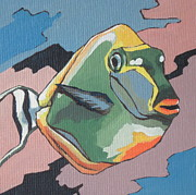 Fish Underwater Painting Originals - Blond Naso Tang by Sandy Tracey