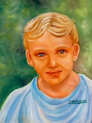 Little Boy Prints - Blonde Boy Print by Carol Allen Anfinsen