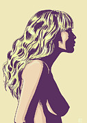 Profile Drawings Posters - Blonde Poster by Giuseppe Cristiano
