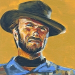 Clint Paintings - Blondie      The Good The Bad and The Ugly by Buffalo Bonker