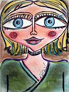 Whimsical Pastels Prints - Blondie Print by Karen Glenville