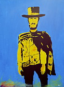 Clint Eastwood Art Paintings - Blondie Pop Art by Austin James