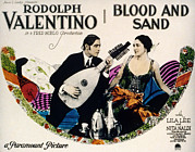 Rudolph Prints - Blood And Sand, Rudolph Valentino, Nita Print by Everett