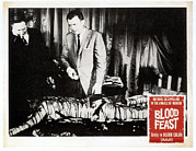 1960s Movies Posters - Blood Feast, From Left Scott H Hall Poster by Everett