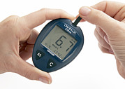 Value Prints - Blood Glucose Meter Print by Mark Sykes