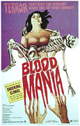 Horror Movies Framed Prints - Blood Mania, 1970 Framed Print by Everett