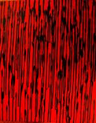 Drips Paintings - Blood Matrix by Leslie Revels Andrews