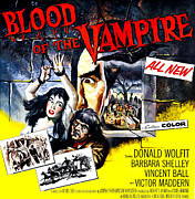 1950s Movies Art - Blood Of The Vampire, From Left Barbara by Everett