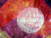Dramatic Mixed Media Originals - Blood Orange II by Patricia High