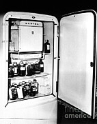 Storage Prints - Blood Storage Refrigerator, 1940s Print by Science Source