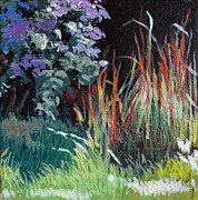 Melody Painting Originals - Bloodgrass and Asters by Melody Cleary