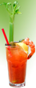 Alcoholic Beverages Posters - Bloody Mary Hand-Crafted Poster by Christine Till