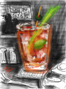 Cocktails Digital Art - Bloody Mary by Russell Pierce