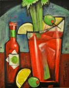 Bistro Paintings - Bloody Mary by Tim Nyberg