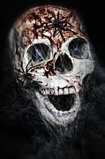 Bloody Skull Print by Joana Kruse
