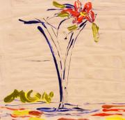 Primitive Drawings - Bloom Vase by Mary Carol Williams