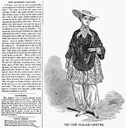 Bloomer Prints - Bloomer Costume, 1851 Print by Granger