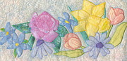 Rose Tapestries - Textiles Framed Prints - Bloomin Favorites Framed Print by Denise Hoag