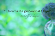 Inspirational Art Digital Art - Blooms the Garden by Bonnie Bruno