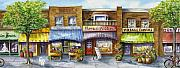 Streetscape Paintings - Bloorwest Village  by Margit Sampogna
