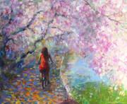 Blossom Alley Impressionistic Painting Print by Svetlana Novikova