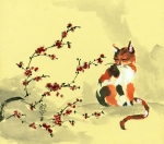 Plum Blossoms Prints - Blossom and Her Blossoms Print by Angi Shearstone