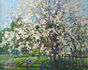 Blossoming Apple Tree Print by Juliya Zhukova