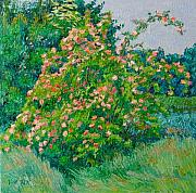 Blossoming Originals - Blossoming bush landscape by Vitali Komarov
