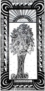 Black And White Roses Painting Originals - Blossoming Rose by Marishka Wollmann