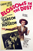 Garson Framed Prints - Blossoms In The Dust, Greer Garson Framed Print by Everett
