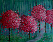 Cherry Blossoms Painting Metal Prints - Blossoms Metal Print by Melodie Douglas