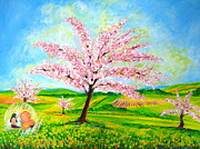 Athletes Painting Originals - Blossoms by Tamara Tavernier