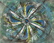 Abstract Windmill. Paintings - Blow by Ana Aguiar