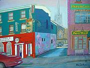 Streetscape Pastels - Blower Street -Halifax by Rae  Smith