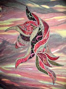 Curves Tapestries - Textiles - Blowing in the Wind by Doria Goocher