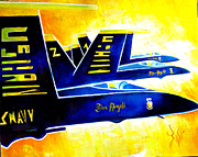 Blue   Angels  Print by Arts  Boss