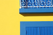 Balcony Prints - Blue & Yellow Print by José Rodrigues