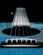 Sound Digital Art - Blue 2 Guitar 21 by Andee Photography