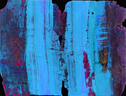 Ann Painting Posters - Blue Abstract Poster by Ann Powell