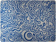 Sharpie Art Posters - Blue Abstract Poster by Mandy Shupp