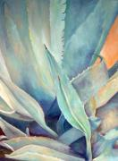 Southwestern Art Prints - Blue Agave Family Print by Athena  Mantle