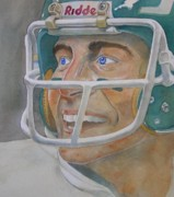 Quarterbacks Paintings - Blue and Green by Nigel Wynter