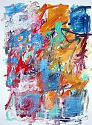 Featured Originals - Blue and Orange Abstract by Michael Henderson