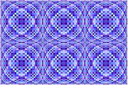 Optical Illusion Digital Art Posters - Blue and Purple Ripples Poster by Chris Long
