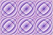 Op Art Digital Art Posters - Blue and Purple Waves Poster by Chris Long