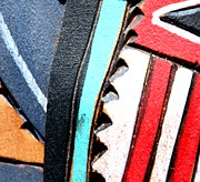 Hopi Prints - Blue and Red Print by Joe Kozlowski